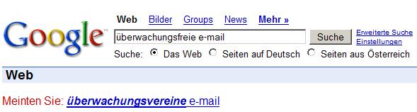 spaßmitgoogle überwachungsfreie E-Mail