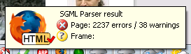 Parser results: 2237 errors