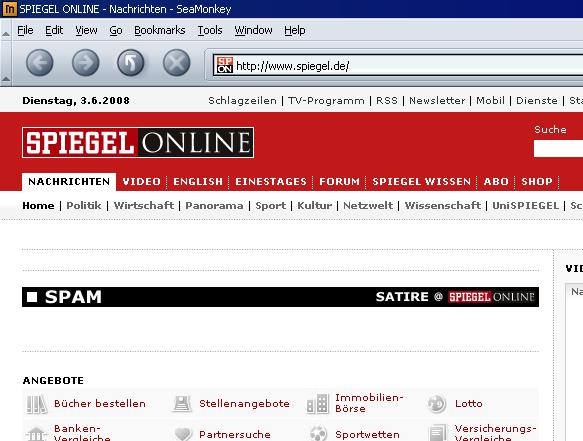 Spiegel Online ohne Inhalt